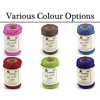 20m Coloured Jute Twine for Crafts - Choice of Colour | Twine Cord & Elastic