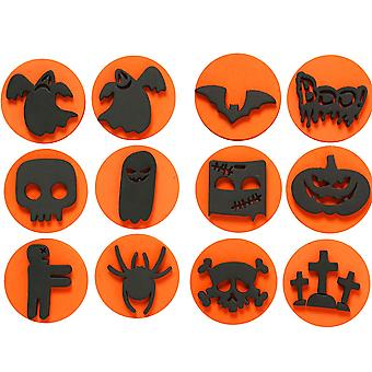 6 dubbelzijdige Halloween thema Foam verf Stamps for Kids