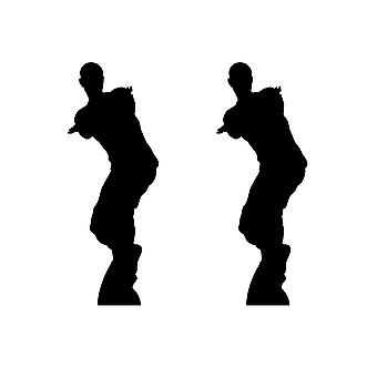 Dancing Gamer Silouette Double Pack Lifesize Cardboard Cutout