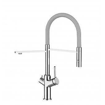 3 Way Kitchen Filter Sink Mixer With Grey Spout And 2 Jet Spray, Works With All Water Filter System - 381