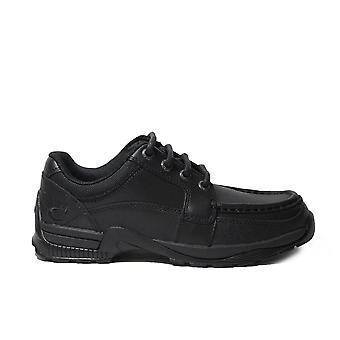Startrite Dylan negro cuero niños encaje zapatos escolares