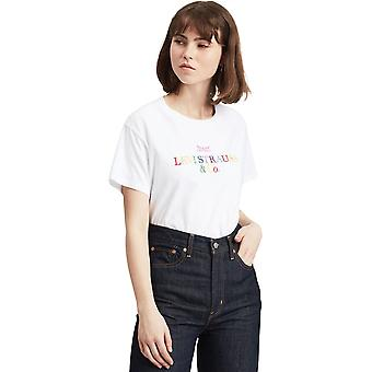 Levi's Graphic Varsity 90s Text T-Shirt White 97