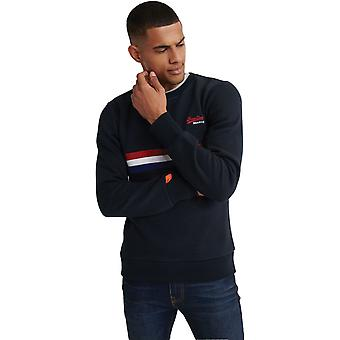 Superdry Orange Label Engineered Sweatshirt Blue 95