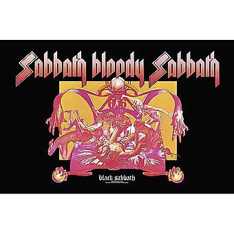 Black Sabbath sabbat Bloody Sabbath stort stoff plakat/flagg 1100mm x 700mm (RZ)