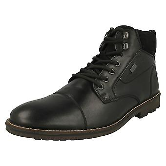 Mens Rieker Lace Up Detailed Ankle Boots F5514