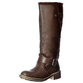 Rocket Dog Teyla Stable Fur Trimmed Tall Knee High Flat Winter Boot