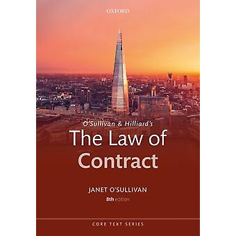 OSullivan  Hilliards The Law of Contract by Janet OSullivan