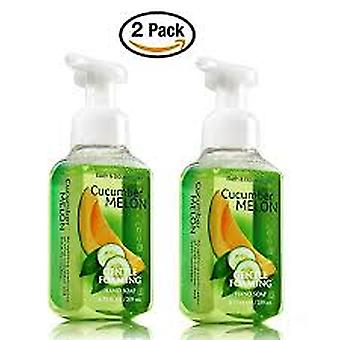 Bath & Body Works Cucumber Melon Gentle Foaming Hand Soap 8.75 oz / 295 ml ( Pack of 2 )