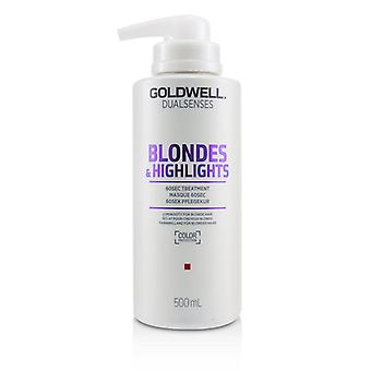 Goldwell Dual Senses Blondinen & Highlights 60sec Behandlung (Leuchtkraft für blondes Haar) - 500ml/16.9oz