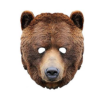 Grizzly Brown Bear Animal Card Party Fancy Dress Mask