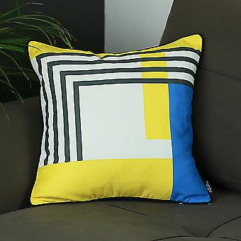 Square Abstract Geo Decorative Throw Pillow Cover