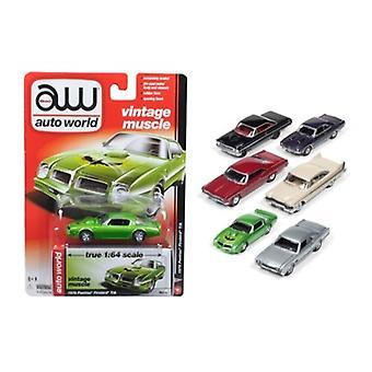 Autoworld Muscle Cars Release 5B Premium Set concesso in licenza di 6 auto 1/64 Diecast Model Cars di Autoworld