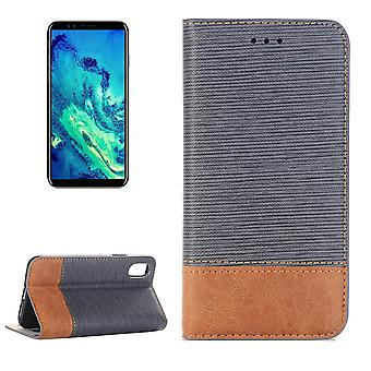 For iPhone XS,X Wallet Case,Toothpick Textured Durable Leather Cover,Grey