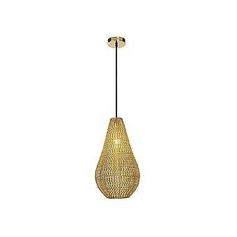 Lucide ENYA Brass Metal Raindrop Ceiling Pendant Light - Yellow