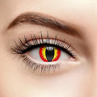 Red Dragon Eye Coloured Contact Lenses (30 Day)