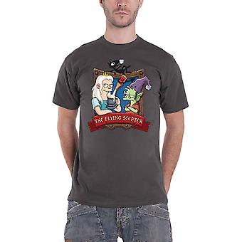Disenchantment T Shirt Flying Scepter new Official Mens Charcoal Grey