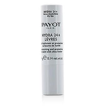 Payot Hydra 24 + Feuchtigkeitsspendende und schützende Lippenbalsam mit Sheabutter - für beschädigte Lippen - 4g/0.14oz