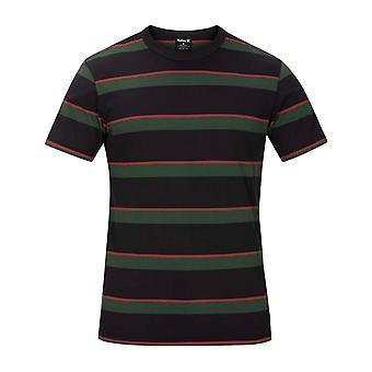 Hurley Dri-Fit Harvey Streifen Patch Kurzarm T-Shirt in Öl grau