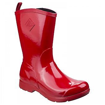 Muck Boots Ladies 100% Waterproof Red Bergen Mid Lightweight Neoprene Footbed Rain Boots