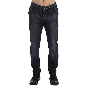 Costume National Blue Wash Regular Fit Cotton Jeans