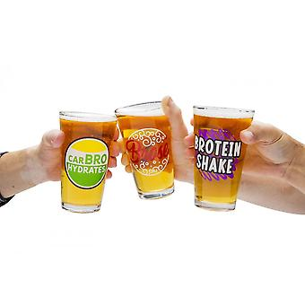 BigMouth Inc. Beer Bro's Beer Glass Set Of 3
