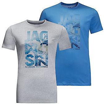 Jack Wolfskin 2021 Mens Atlantic Ocean Stretch Lichtgewicht Grafische T-shirt