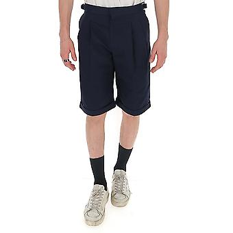 Alexander Mcqueen 595579qos294100 Men's Blue Viscose Shorts