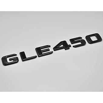 Gloss Black GLE450 Flat Mercedes Benz Car Model Numbers Letters Badge Emblem For GLE Class W166 C292 AMG