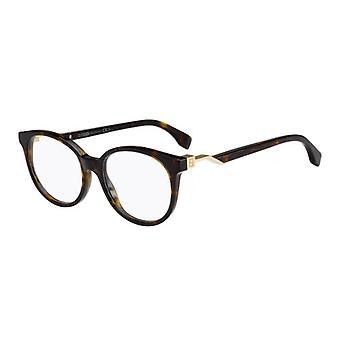 Fendi Cube FF0202 086 Dunkle Havanna Brille