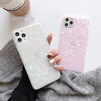 Mobile shell in artificial mother of pearl for iPhone11