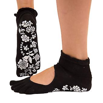 TOETOE Yoga & Pilates Anti-Slip Sole Serene Ankle Toe Socks