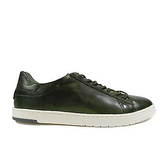 Bugatti 321-91801 Green Leather Mens Lace Up Casual Trainers