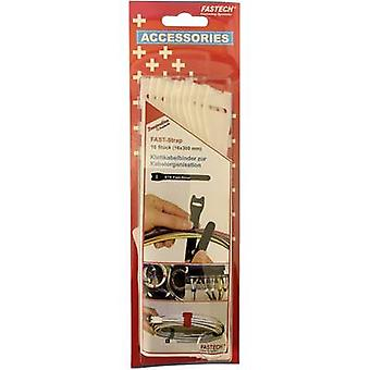 FASTECH® 803-010 Koukku- ja silmukkakaapelisolmio koukku- ja silmukkatyyny (L x W) 300 mm x 16 mm Valkoinen 10 kpl