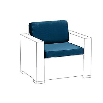 Blauwe 2PC zitkussen set voor Keter Allibert California fauteuil