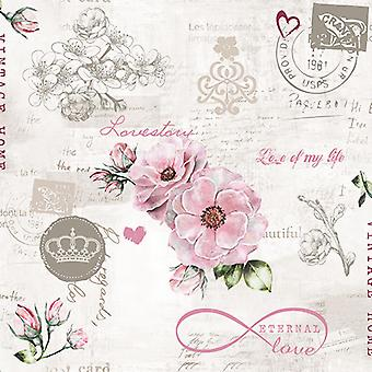 Ambiente 3 Ply Paper Napkins, Eternal Love