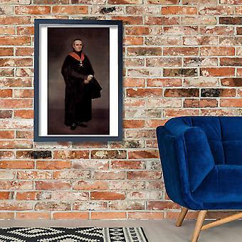 Francisco de Goya - Portrait of Priest Poster Print Giclee
