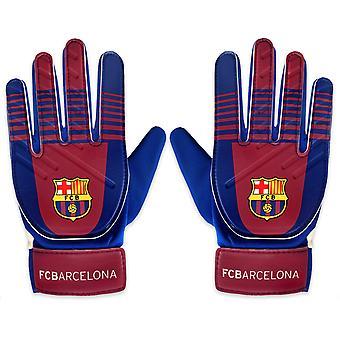 FC Barcelona Official Football Gift Kids Youths Goalkeeper Goalie Gloves