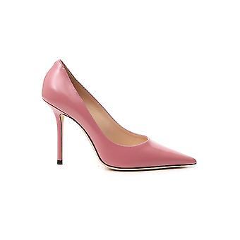 Jimmy Choo Love100lqublush Women's Pink Leather Pumps