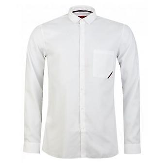 BOSS Eli Taped Branded Slim Fit Shirt