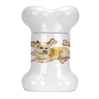 Carolines Treasures  CK2270BSTJ Cairn Terrier Bone Shaped Treat Jar
