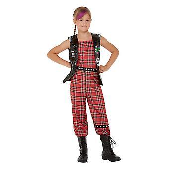 Dievčatá 90s punk rocker maškarný kostým