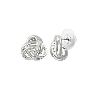 Eternal Collection Entwined Silver Tone Classic Pierced Earrings