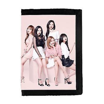 Portafoglio in velluto rosso K-pop