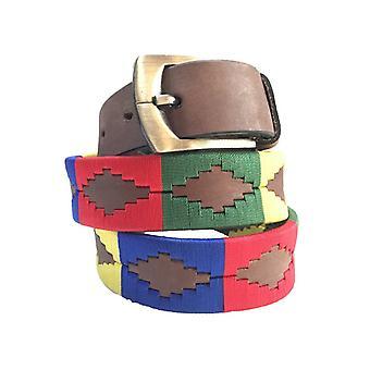 carlos diaz boys  brown leather  polo belt cdkpb23