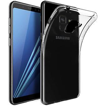 FONU Siliconen Backcase Hoesje Samsung Galaxy A8 - Zwart