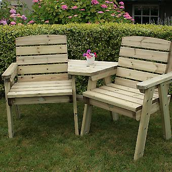 Charles Bentley British Made Wooden Companion Seat Timber FSC Approved Natural Wood H102 x W193 x D77.5cm 55kg