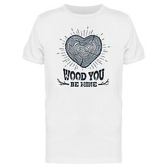 Trunk Heart Wood You Be Mine Tee Men's -Image by Shutterstock