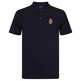 Real Madrid Mens Polo Shirt Crest Cadeau officiel de football