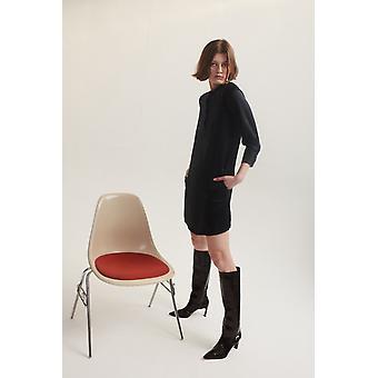Lindsay Nicholas NY Shirt Dress in Black