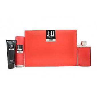 Dunhill Desire Red Gift Set 100ml EDT + 195ml Body Spray + 90ml Shower Gel